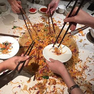10th day of the Lunar New Year and we gather for a splashing company 'Lo Hei' lunch! #huatah #brayle...